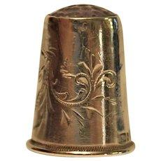 19th century  Scandinavian 830 S  Silver Stone Top Thimble