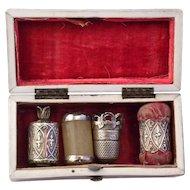 Georgian  French Sewing  Box  Etui  C 1800
