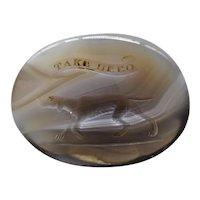 Georgian Agate 15 k Rose Gold Intaglio Dog Seal Fob Pendant