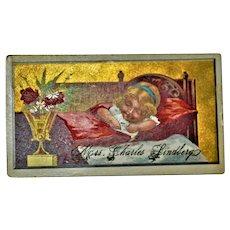 Baby Charles Lindberg Mourning /Post Mortem Trade Card