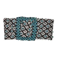 Antique  Micro Beaded Buckle Bracelet