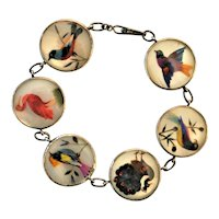 Antique Bird Feather Bird Bracelet