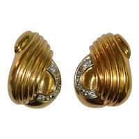 Vintage Italian 18 kt 750 Designer Earrings