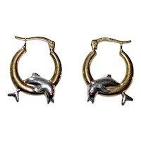 Dolphin Earrings 10 kt Gold