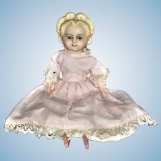 19th Century German  Wax / Composition /Wood Doll