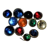 Colored  Glass Button Collection