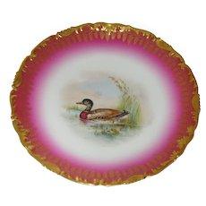 Gorgeous Ovington Bros. Limoges Cabinet Plate