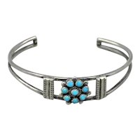 Navajo Silver Turquoise Child's Bracelet Old