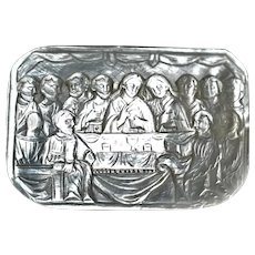 Antique Mother of Pearl Last Supper Plaque