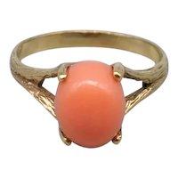 Vintage 10k Salmon Coral Ring