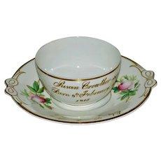Antique English Staffordshire Porcelain Child's Christening Bowl Plate C 1810 & 1815