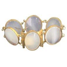 Vintage White Agate Link Bracelet