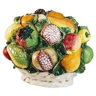 Vintage Intrada Italian Fruit Ceramic Vegetable Italy Centerpiece Oversize Majolica Basket Pottery Large Bowl