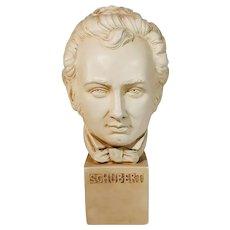 Vintage Franz Schubert Bust Sculpture Composer Statue Alexander Backer