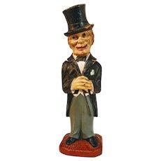 Vintage Corkscrew Syroco Wood OLD CODGER Top Hat Man Wine Bottle Opener USA Barware Bar