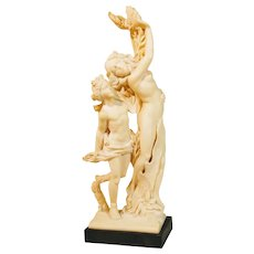 Vintage G Ruggari Figurine Sculpture Apollo Daphne Ruggeri Santini Studio Italy Italian Greek