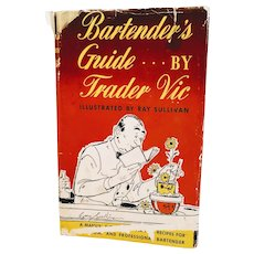 Vintage Book Bartender Guide By Trader VIC Cocktails Mixology 1948 Mid Century Bar Barware