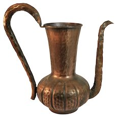 Vintage Copper Tea Pot Kettle Turkish Hammered