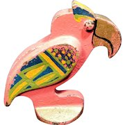 Deco Style Parrot Bottle Opener Cast Iron