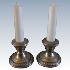 La Pierre Sterling Salt Pepper Shaker pair with Candlesticks