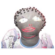 Black Mammy Doll Folk Art Cloth Rag