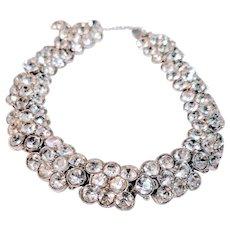 Vintage Henry Bogoff Swarovski Crystal Bracelet Rhinestones New York Designer Signed