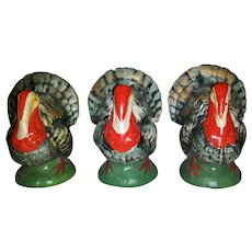 Bisque Clay Turkey Occupied Japan Figurines