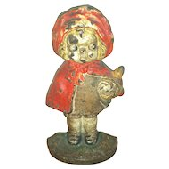 Doorstop Hubley Red Ridinghood Cast Iron