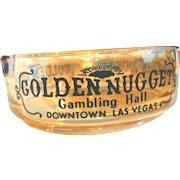Vintage Las Vegas Golden Nugget Ashtray Gambling Hall