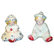 Cast Iron Children Paperweights Painted Pair Hubley