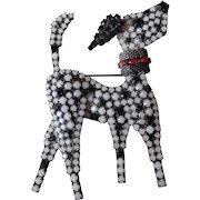 Dorothy Bauer Dalmatian Dog Brooch Pin Rhinestone Bling Costume