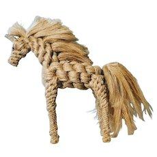 Hemp Rope Mid Century Horse