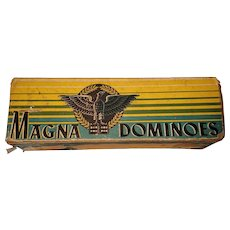 Vintage Magna Dominoes  Box Milton Bradley Made In USA