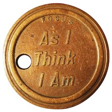 Focus Token Coin As I Am Set Sail Vintage Bronze Flipping Luck Advice Boat Novelty Key Ring Necklace Charm