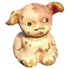 Cast Iron Puppy Paperweights Painted Hubley Fido Puppo Party Favor Desk Accessory Dog Bulldog English French