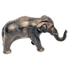 Vintage Cast Iron Advertising Elephant Figural Rare Crane Co. 50th Jubilee Souvenir Cast Iron Elephant Paperweight, 1855-1905