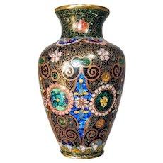 19th Century Cloisonne Enamel Vase Chinese Japanese Asian Bronze Meiji