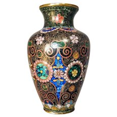 19th Century Cloisonne Enamel Vase Chinese Japanese Asian Bronze Meiji