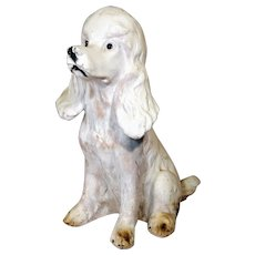 Vintage Poodle Dog Figure Statue Figurine Mid Century 1950s