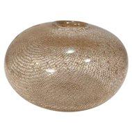 Vintage Murano Bullicante Vase Venetian Gold Control Bubble Swirl Bulb Italy Italian