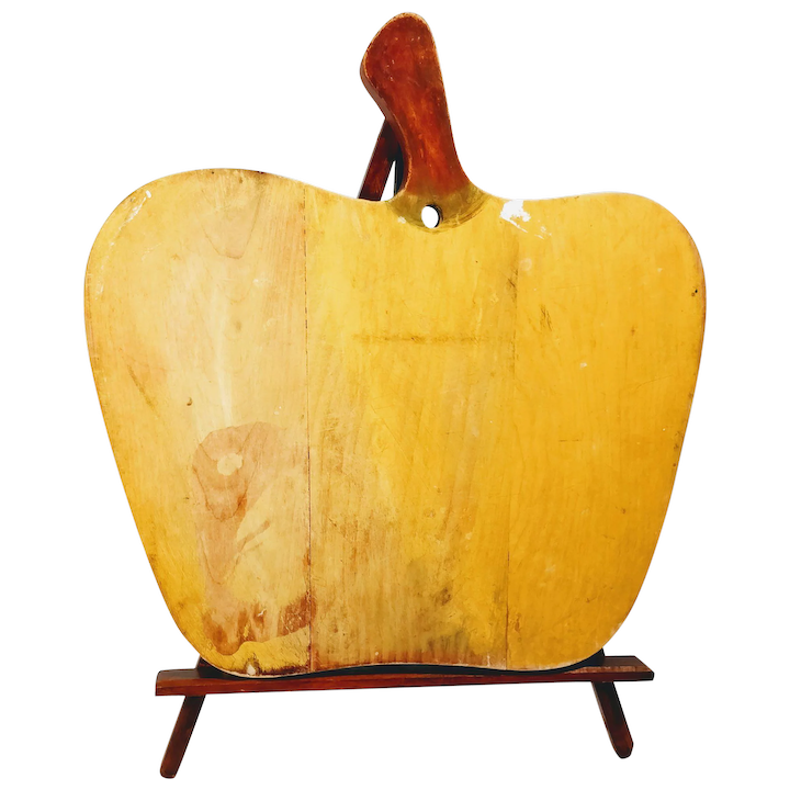 Vintage Le Pear Primitive Wood Cutting Board Kitchen Decor Fruit Allie S Antiques Ruby Lane