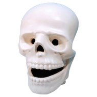 Vintage Skull Skeleton attributed to Atlantic Mold Company Bone Head Face Facial Halloween Display Ceramic Porcelain