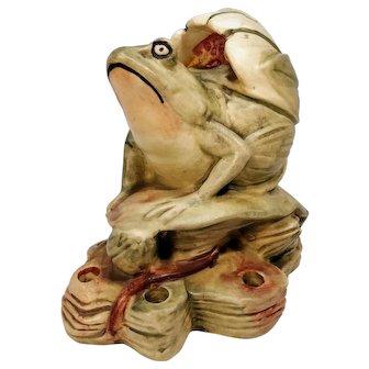 Weller Pottery Frog Flower Frog