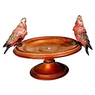 Vintage Austrian Bronze Bergman Bird Bowl Cold Paint 19th Century Antique