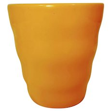 Vintage Butterscotch Yellow German Vase Pot Planter Pottery Made in Germany