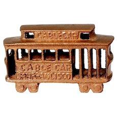 Vintage Brass San Francisco Trolley Car Cable Souvenir