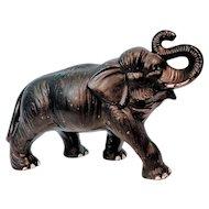 Vintage Large Sylvac Black Elephant Figurine Figure African Animal