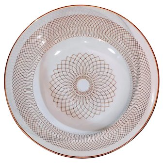 Vintage Spirograph  Svend Jensen Gold Bowl Dish Atomic Culver Style Bar Barware Serve Retro Vibe MCM Mid Century