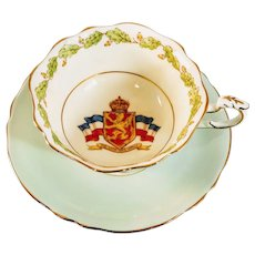 Vintage Paragon Teacup Patriotic Series Lion Has Wings Queen Mary Elizabeth Fine China England English