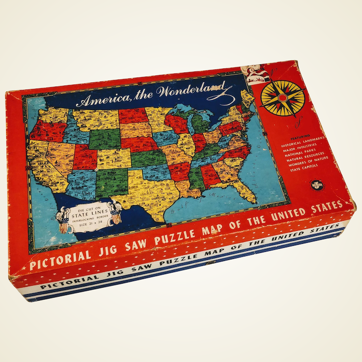 Vintage Puzzle United States Map America Game Jig Saw State Capitols on north dakota map puzzle, united states maps usa, usa state map puzzle, southeast asia map puzzle, united states jigsaw puzzle, united states puzzle sifo, louisiana map puzzle, russia map puzzle, united states of america, united states and their capitals, florida map puzzle, game of thrones map puzzle, united states travel puzzle, united states presidents with years, united states puzzle printable, united states puzzle games, tennessee puzzle, united states social studies games, arizona map puzzle, united states national disaster,